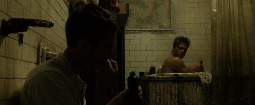 el club de la lucha brad pitt ducha canon belleza desnudo edward norton