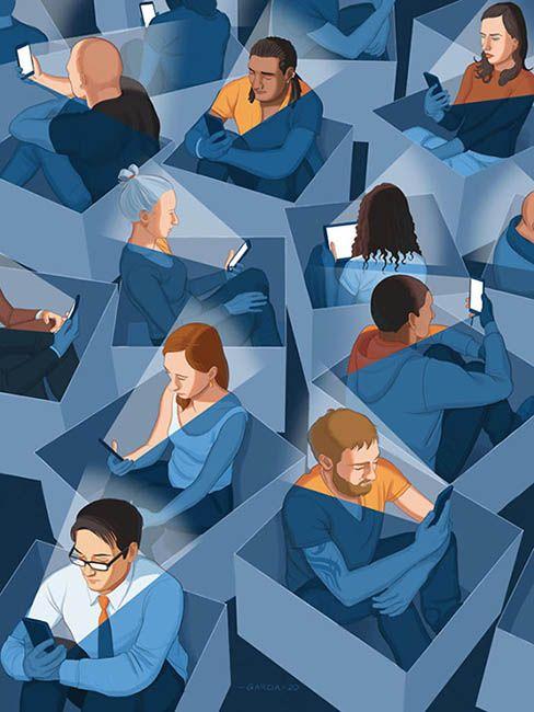 Man Made Boxes by Daniel Garcia Falsa pertenencia a una comunidad. Espectáculo y redes sociales. Guy Debord