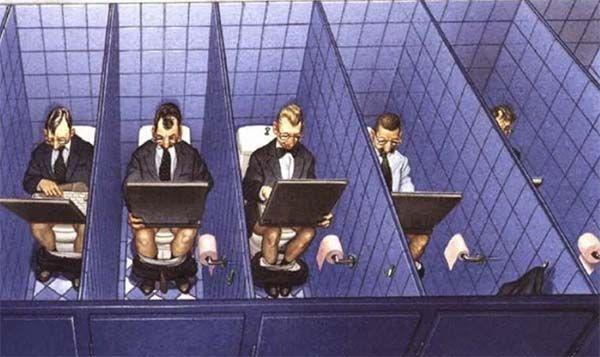 Transmedia. Hipervisible. Ilustración satírica del artista Austriaco Gerhard Haderer.