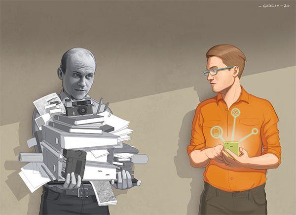 Journalists Past and Present, obra de Daniel García. Determinismo tecnológico y mediamorfosis.