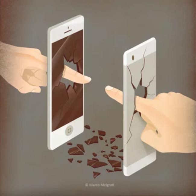 Real Touch. Obra de Marco Melgrati. Smartphones. Sociedad del espectáculo.