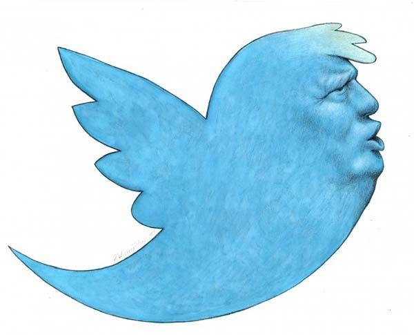 President. Obra de Pawel Kuczynski. Twitter y Trump. Simulacro y Determinismo tecnológico.