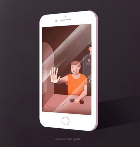 Smartphone Addiction. Obra de Marco Melgrati. Teoría del simulacro.
