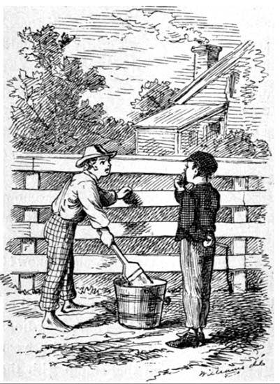 Cultugrafía. Ilustración de True Williams de la novela Las aventuras de Tom Sawyer (1876-1878), de Mark Twain. El sueño americano.