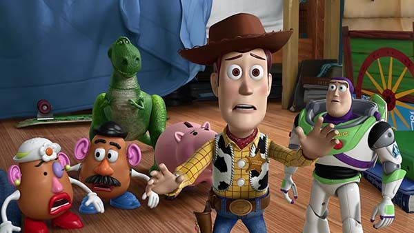 Toy Story (1995). Pixar. Con John Lasster, Pete Docter, Andrew Stanton y Joe Ranft