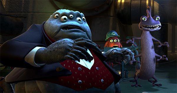 Randall y Sr. Waternoose  de Monstruos S.A. Cine de Pixar. Crítica Cultural en Cultugrafía