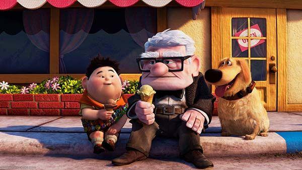 Carl y Russel de la película Up de Pixar. Crítica de Cine. Cultugrafía