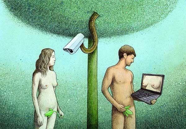 Adam and Eve (2021). Obra de Pawel Kuczynski. Crítica de las nuevas tecnologías. La experiencia a través de la imagen.