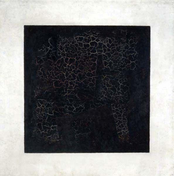 Cuadrado negro de Kazimir Malevich. Arte, suprematismo. Arbitrariedad, significado y significante