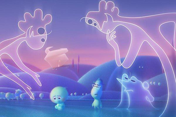 El villano Terry y dos Jerrys junto a las almas de Joe Gardner y Veintidós. Crítica de cine, película Soul. Cultugrafía