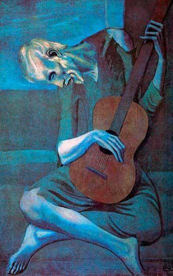 Viejo guitarrista ciego de Pablo Picasso. La arbitrariedad del signo y la llegada del arte conceptural