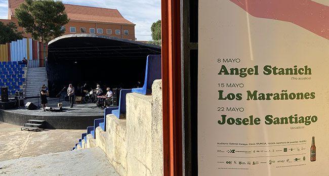 Concierto Marañones Cieza y cartel microsonidos con Ángel Stanich y Josele Santiago