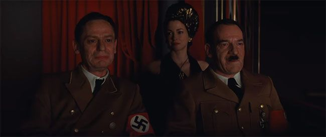 Goebbels y Hitler en película de Tarantino.