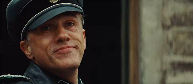 Christoph Waltz interpretando a Hans Landa en Malditos Bastardos. Película de Tarantino