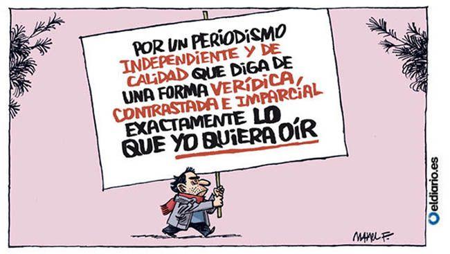 Ilustración de Manel Fontdevila sobre periodismo independiente.