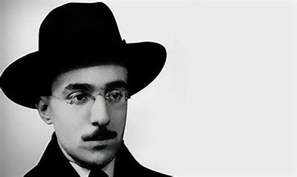 Retrato del poeta con más heterónimos Fernando Pessoa.