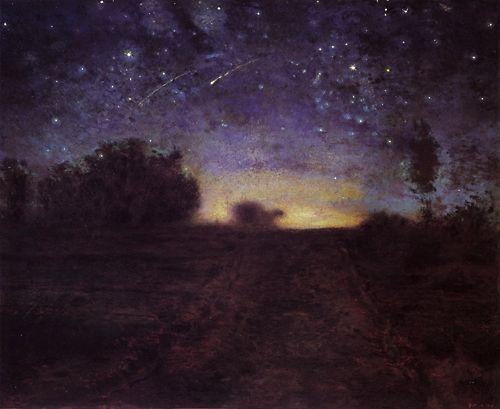 Mágica noche estrellada (1855-67), obra de Jean-Brançoise Millet. Naturaleza de noche en la Poesía de Pessoa.