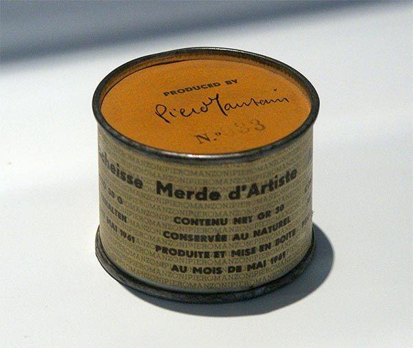 Mierda de artista (1961). Escultura de Piero Manzoni