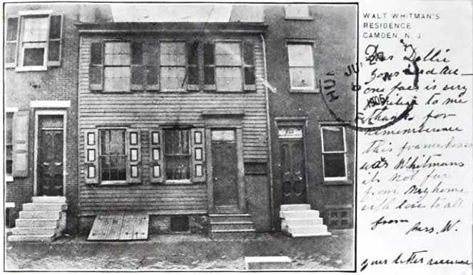 Casa de Walt Whitman en Camden.