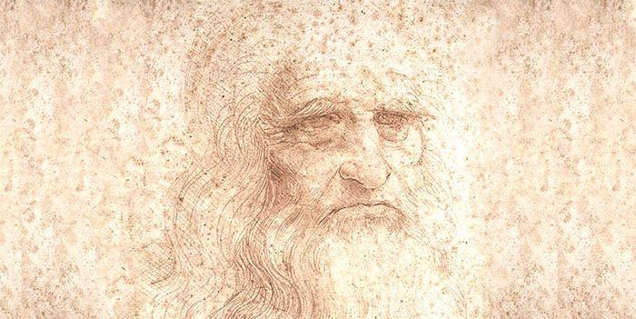 Retrato Leonardo da Vinci. El genio creador. Artista romántico. La evolución del artesano.