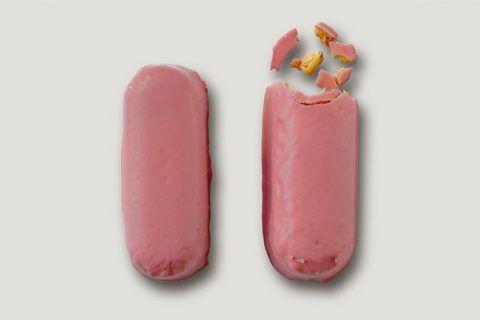 Imagen de portada del libro Gordo de Feria, de Esther García Llovet. Son bizcochos panteras rosa, y una metáfora de las pastillas