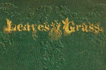 Imagen destacada artículo sobre la naturaleza en la obra de Walt Whitman. Portada de Leaves of Grass