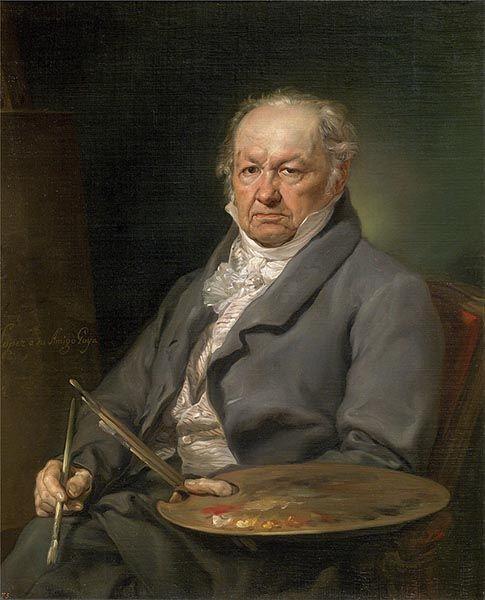 Retrato del artista Francisco de Goya (1826). Obra de Vicente López.