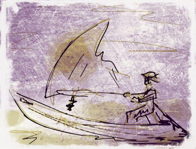 El viento. Poesía de Pessoa. Obra de J. Barbadilla