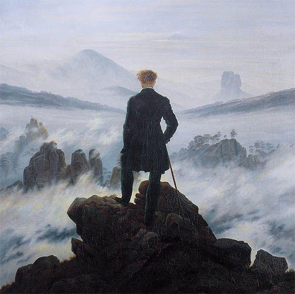El caminante sobre el mar de Cavid Friedrich. La poesía de alberto Caeiro en Cultugrafía.