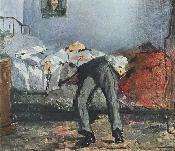 El suicidio, obra de Manet. Le Suicidé