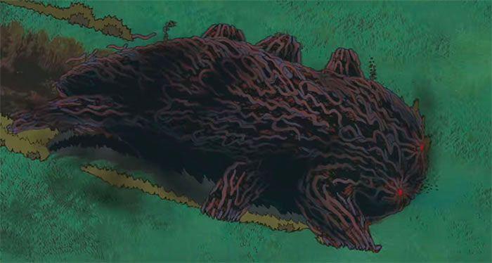 Fotograma de La princesa Mononoke (1997) de Hayao Miyazaki. La corrupción del Dios Javalí Ecología y tradición