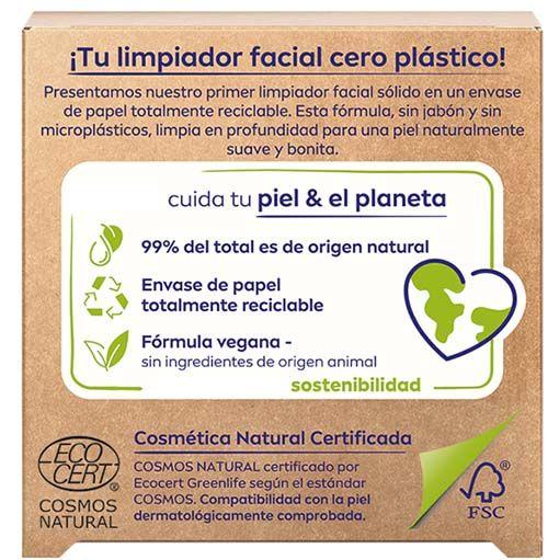 Certificado Limpiador facial cero plástico. Cosmética Natural Certificada. Eco cert fsc