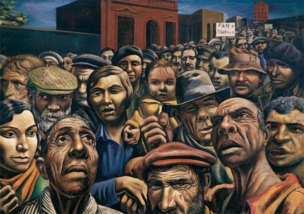 Manifestación (1934), Antonio Berni. Hombres y multitudes, postales de otro tiempo. Cultugrafía