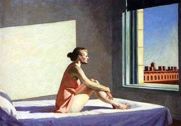 Morning Sun (1952), Edward Hopper. El artista estadounidense capturó la soledad durante toda su obra.