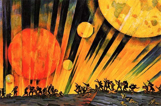 Nuevo planeta (1921), de Konstantin Yuon. Arte y revolución.