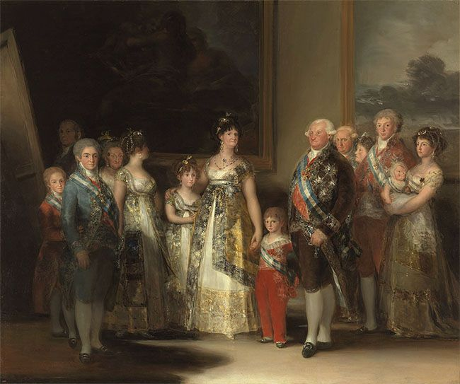 La familia de Carlos IV (1800), de Francisco de Goya.