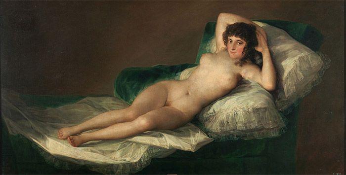 La maja desnuda (1800), de Francisco de Goya. Goya, estilo y revolución.