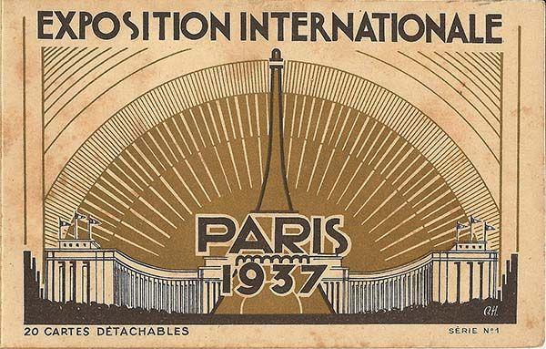Cartel Exposición Internacional de París 1937.