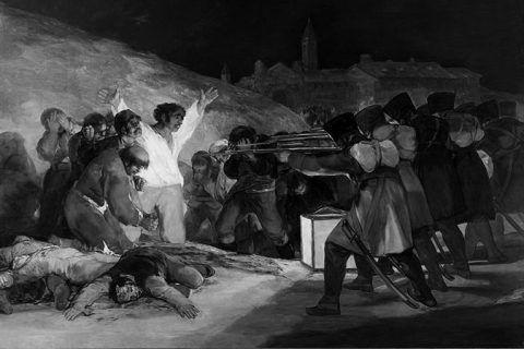 Los fusilamientos del 3 de mayo de Francisco de Goya en Blanco y Negro. Segunda parte del análisis historiográfico completo. Estilo y revolución.