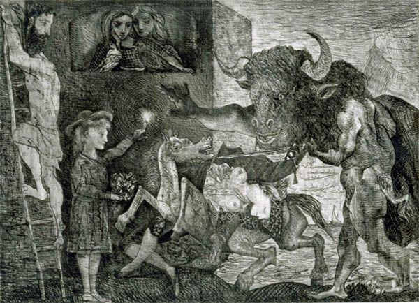 Minotauromaquia (1935), obra de Pablo Picasso.