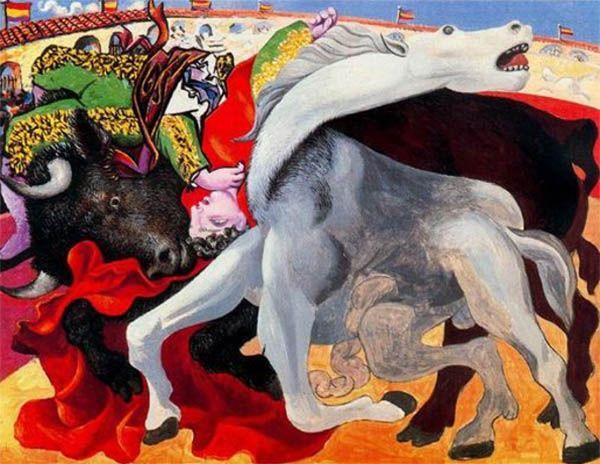 La muerte del torero (1933), de Pablo Picasso.
